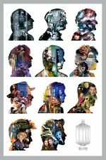 NEW Dr Doctor Who 11 Doctors Silhouette Wall Poster - Official BBC Merchandise