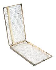 Sterling Silver Feligree & Enamel Antique cigarette Case - c.1890s