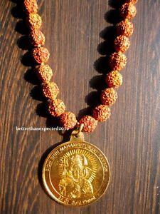 Details about Rudraksha 10 MM Mala With Sidh Shri Mahamritunjay Yantra  Pandent Shiva Kawach