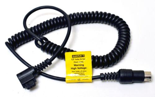 Quantum//Godox M361L Turbo Cable CZ para Canon Speedlites 430//540 550EX 580EX//EXII