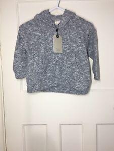 Zara-Filles-Gris-Super-Soft-Sweat-a-capuche-avec-poches-avant-l-039-age-4-ans