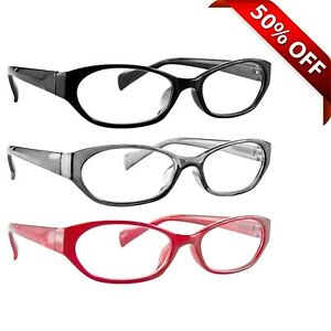 4c10fc4dbc5 Image is loading NEW-Reading-Glasses-BEST-3-Pack-Readers-Red-