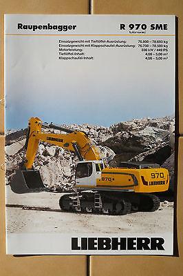 Kataloge & Prospekte Sonderabschnitt Liebherr Baumaschinen Prospekt R 970 Sme Raupenbagger Business & Industrie
