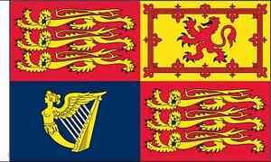 UK Royal Standard Sleeved Flag suitable for Boats 45cm x 30cm