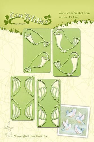 Satnzschablone//prägeschablone-pequeños pájaros-de Leane creatief