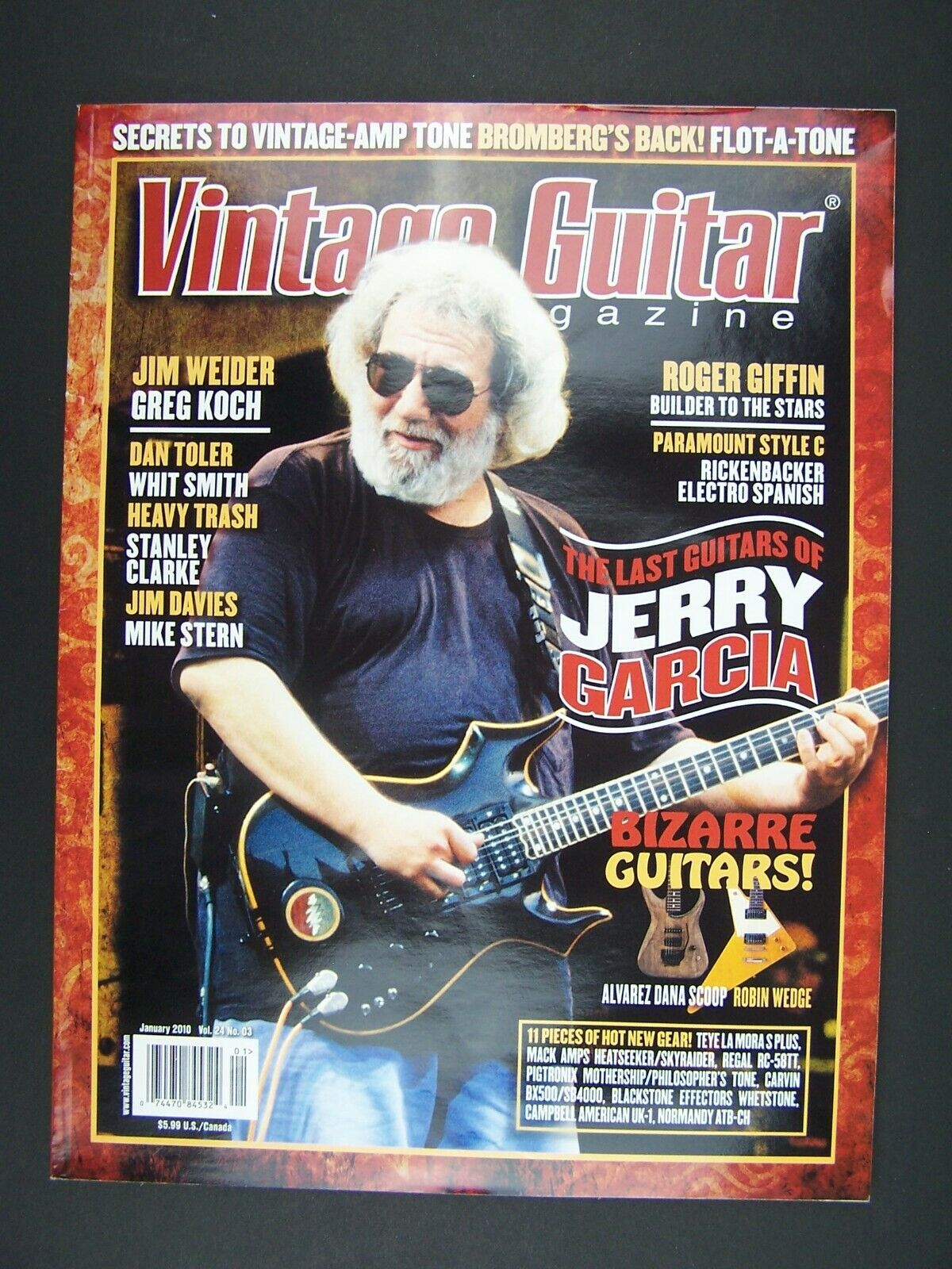Vintage Guitar Magazine January 2010 Jerry Garcia Cover