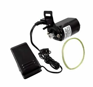 110 Volt Enduro Sewing Machine Motor Kit with Foot Pedal /& Belt 100 Watt for