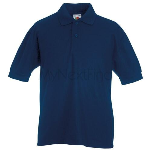 Fruit of the Loom Boys Girls 65//35 Pique Polo Shirt