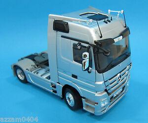Eligor Mercedes Benz Actros Truck 1 18 Scale Die Cast Silver Rare