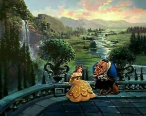 THERE'S SOMETHING THERE Rodel Gonzalez L/E Giclee On Canvas Beauty Beast Disney