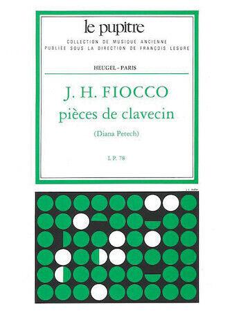 lp 78 Joseph-Hector Fiocco Petech. Pieces De Clavecin Edition Critique De D