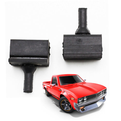 Side Hood Bonnet Bumper Rubber Black 2 Pc For Datsun 620 Pickup 1972-1979
