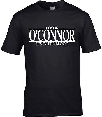 O/'Connor Surname Mens T-Shirt 100/% Gift Name Family Cool Funny