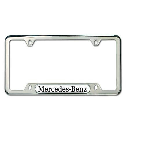 Mercedes-Benz Stainless Steel License Frame  Polished Stainless Steel Finish