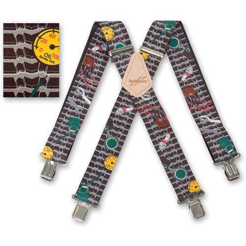 "Brimarc Mens Heavy Duty Suspender 2/"" 50mm Wide Mechanic Braces"