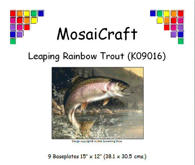 MosaiCraft Pixel Craft Mosaic Art  Kit 'Leaping Rainbow Trout' Pixelhobby  selling well all over the world