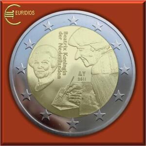 2-Euro-Gedenkmuenze-Niederlande-2011-034-Erasmus-von-Rotterdam-034-bankfrisch