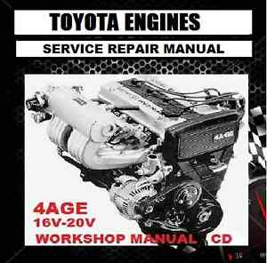 toyota 4a ge 4age 4afe 16v 20v engine and 4a gze 4agze workshop rh ebay com au Geo Prizm Engine Toyota 4AFE Engine