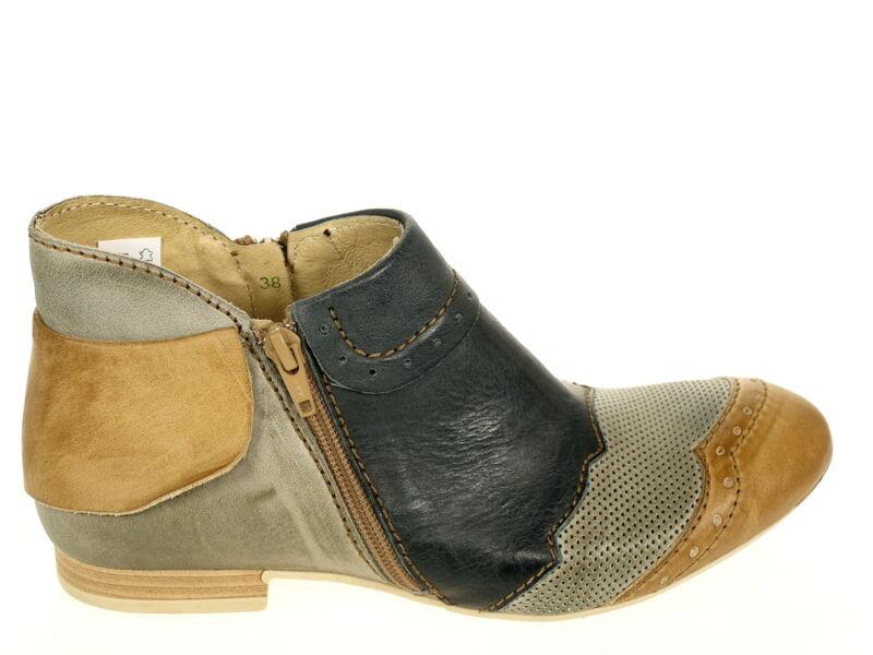 Rovers Schuhe Stiefelette 38014 Gr.37 grau/blau/braun Schuhe Neu OVP TOP Fußbett