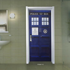 5 Inch DOCTOR WHO OVAL Vintage Style decal sticker vinyl TARDIS EURO Cafe
