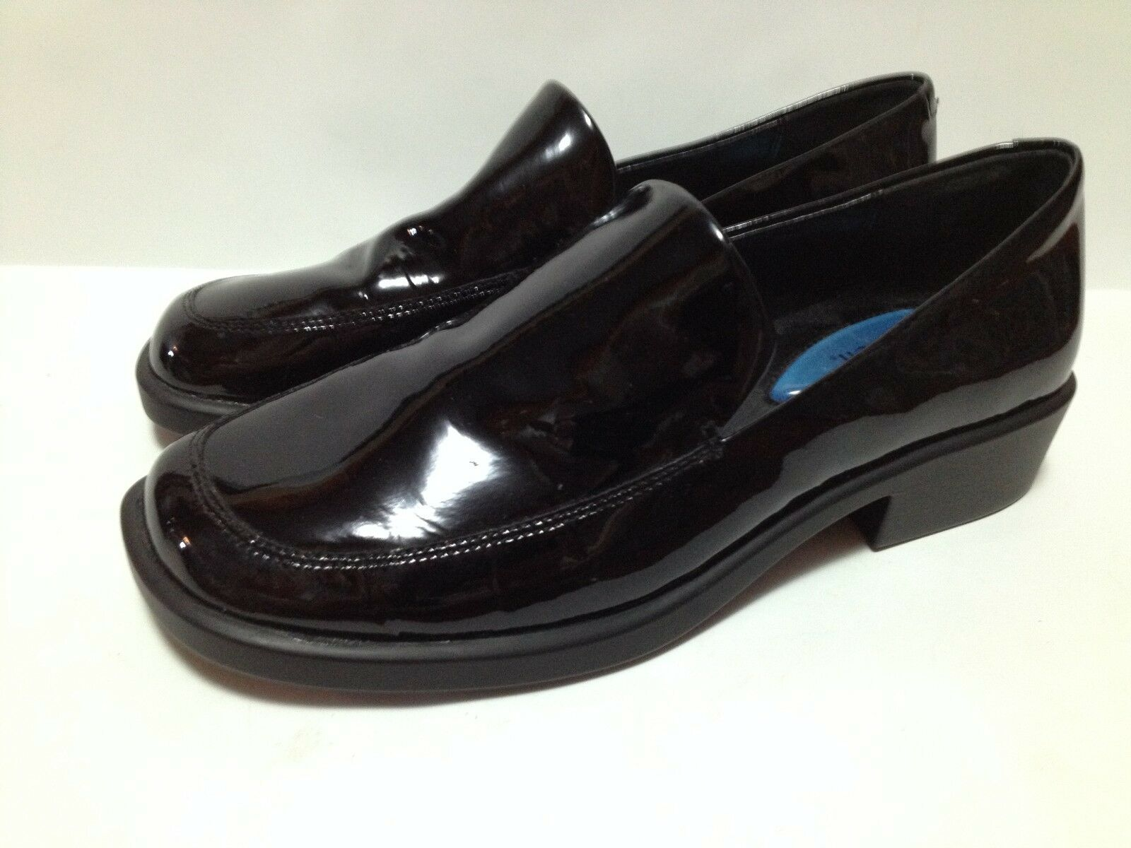 Fitzwell Womens 5 Slip Loafers Black Patent Leather Comfort Shoes Slip 5 On Business 4dd4bc