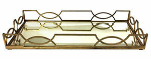 SERVING-TRAYS-034-KINGS-CROSS-034-QUATREFOIL-SERVING-TRAY-ANTIQUE-GOLD-FINISH