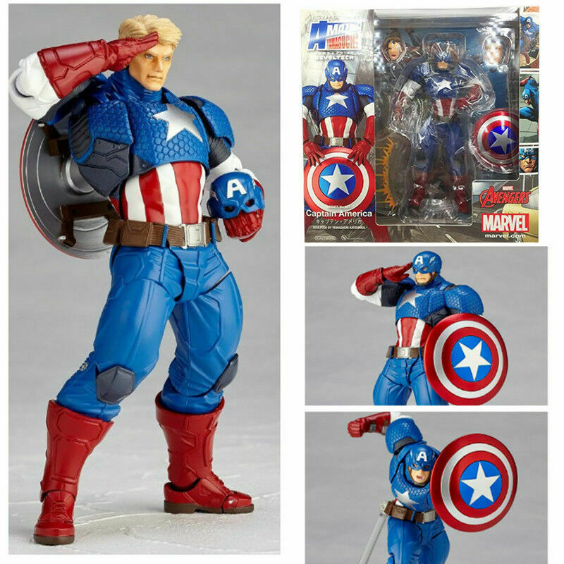 Amazing Yamaguchi Revoltech Captain America No.007 Action Figur Figuren No Box