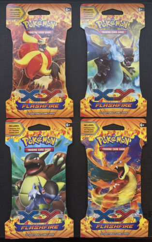 Pokemon TCG Flashfire Blisters 1X Artwork Sealed Unweighed Fresh From Case