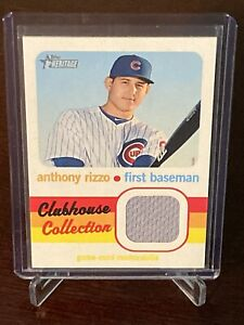 2020 Topps Heritage Clubhouse Collection Anthony Rizzo Jersey Relic Chicago Cubs
