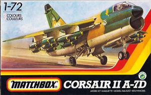 Corsair-II-A-7D-Matchbox-40101-Massstab-1-72-Raritaet-Vought-Jet-Modellbau-Rar