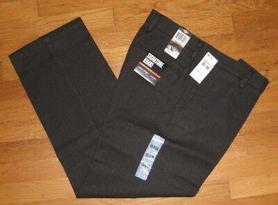 Mens Dockers Signature Khaki Pants D2 Straight Fit /& Leg Flat Front Gray Chevron
