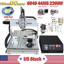 Cnc 6040 2200w 4axis Dsp Router Mach3 Usb Engraving Cutting Drilling Diy Machine