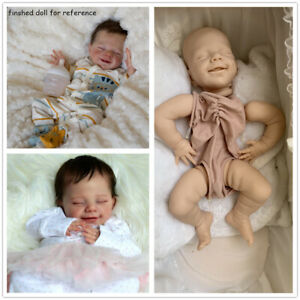 "22/"" Reborn Doll Kits Unpainted Baby Mold Eyes Closed Reborn Kits DIY Reborns"