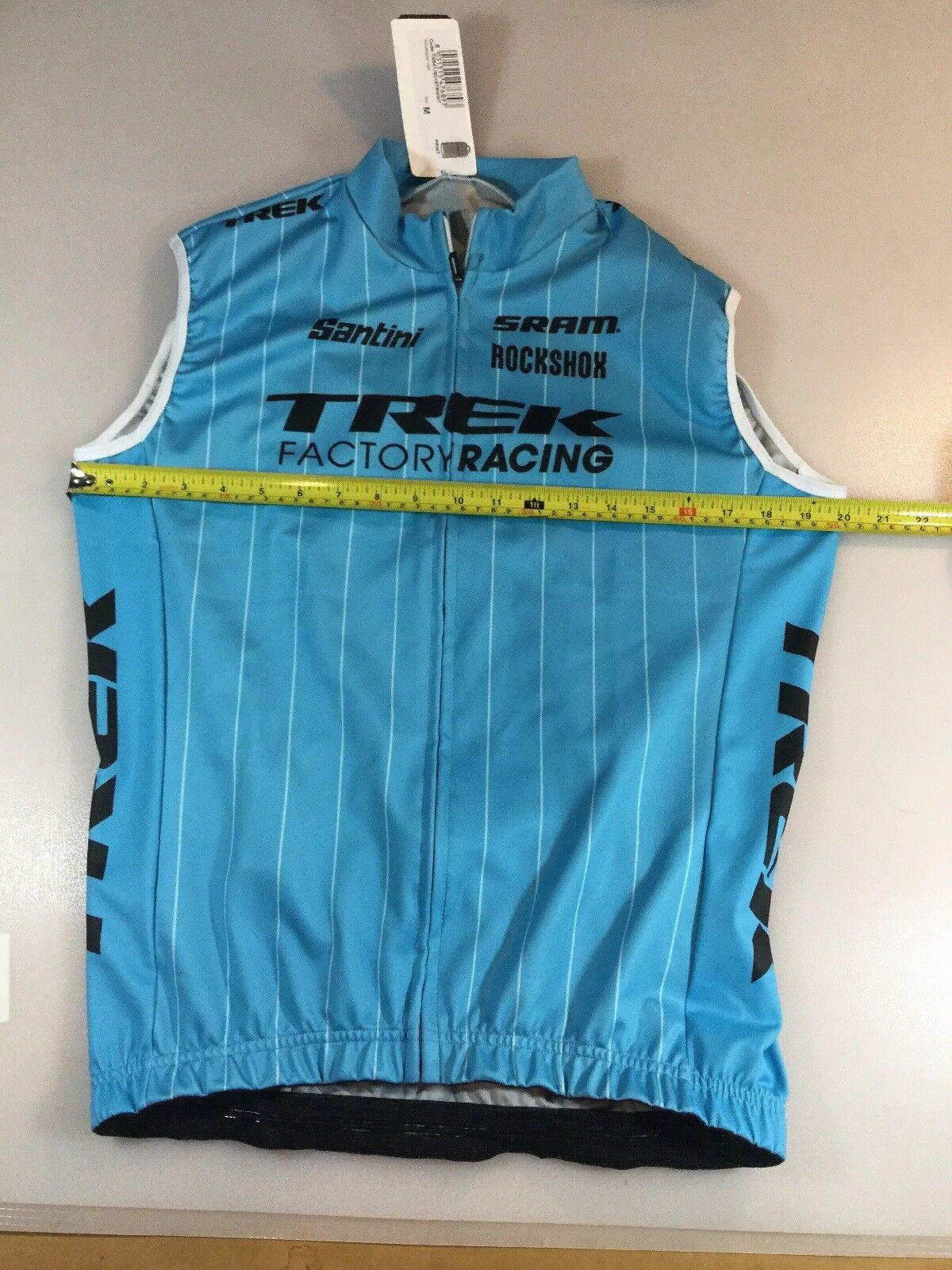 Sms Santini Trek Factory Racing Wind Vest Size Medium M  (6550-6)