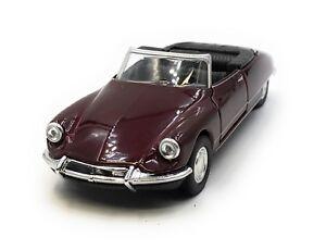 Modello-di-auto-Citroen-DS-19-Oldtimer-Rosso-Vinaccia-CABRIO-AUTO-1-34-39-concesso-in-licenza