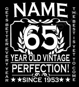 Image Is Loading 65th Birthday T Shirt Ladies Cut Add Name