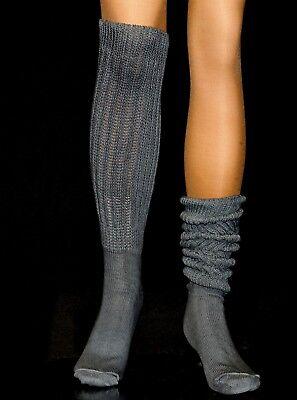 6 Slouch knee Thigh High Socks Heavy Scrunchie women Hooters Large Uniform Nurse