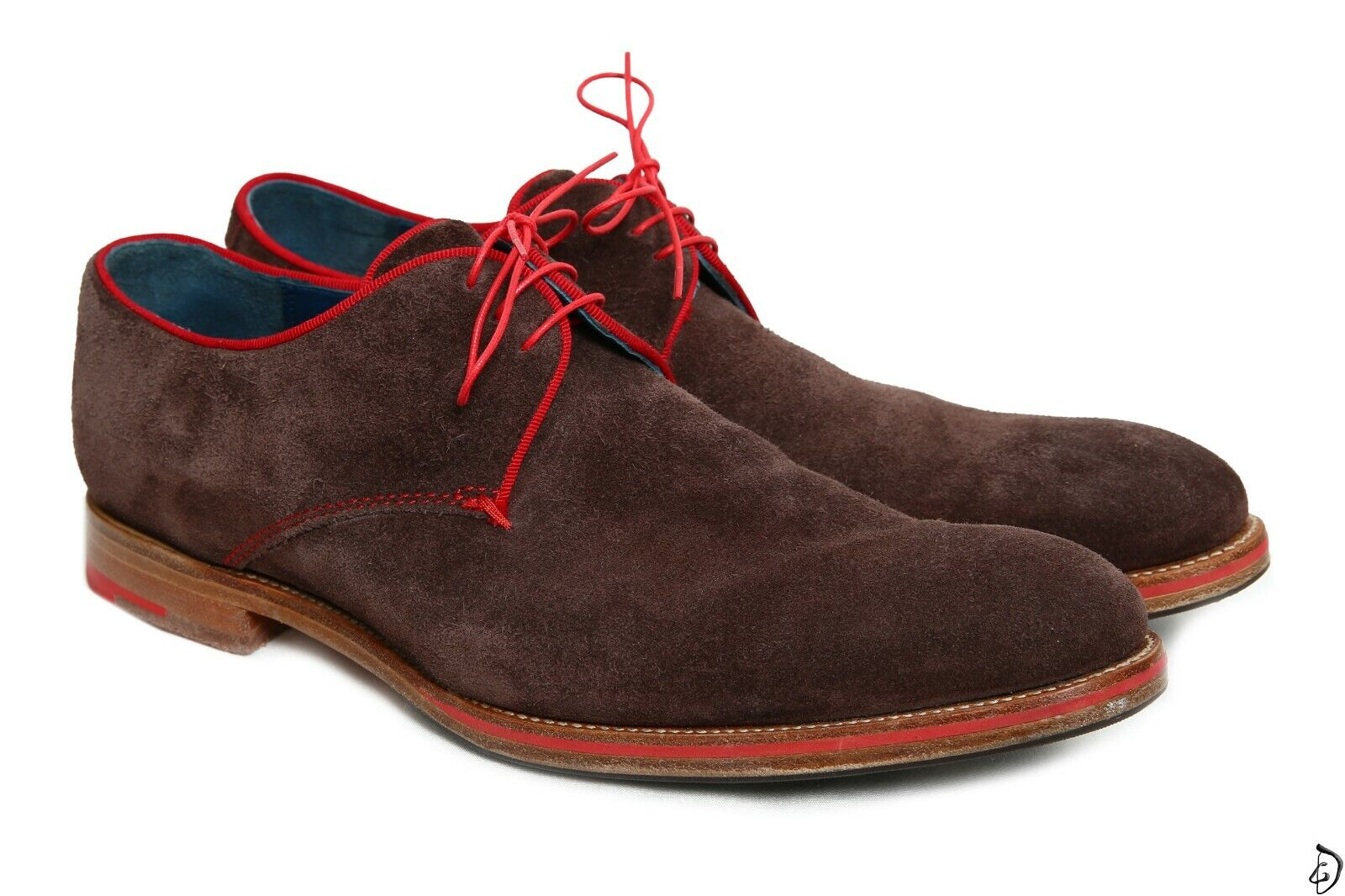 320  Barker oxford 11 size Brown suede red trim Made in England