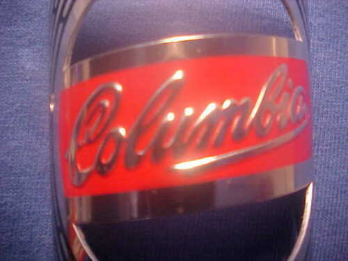 Roadmaster /& Columbia Balloon Tire Bicycle Head badge name plate Emblem