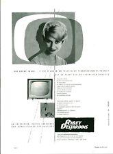Publicité ancienne téléviseur Ribet Desjardins 1959  Maurice Bonhomme