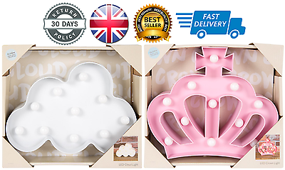3d Led Crown Cloud Warm Light Pink White Party Night Lamp Bedroom Home Gift Aantrekkelijke Ontwerpen;