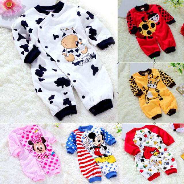 Baby Kids Newborn Boy Girl Animal Onesie Bodysuit Romper Jumpsuit One-Piece Suit