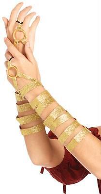 ADULT GOLD ARM WRAPS GLOVES ROMAN EGYPTIAN GODDESS COSTUME UA2728