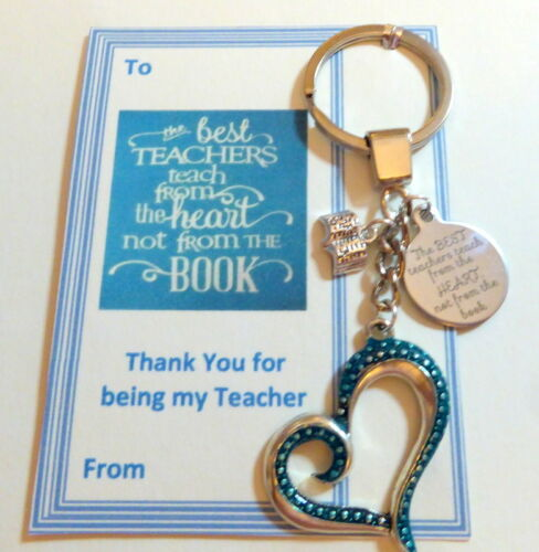 BEST TEACHERS TEACH FROM THE HEART NOT THE BOOK THANK YOU GIFT KEY RING