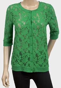 Pretty green lace cardigan by MAX. | eBay