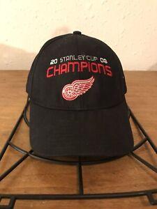 Detroit-Red-Wings-2008-Stanley-Cup-Champions-Hat-Cap-Zetterberg-40-Strapback