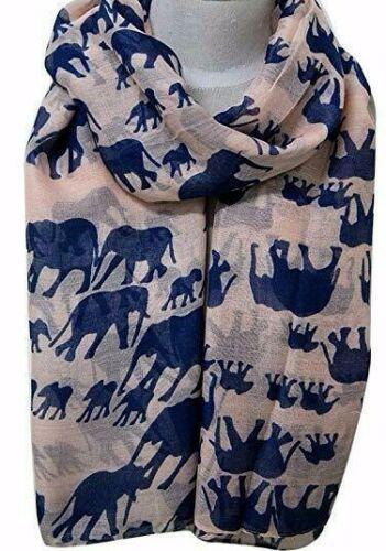 Elephant Print Soft Celebrity Scarf Animal Fashion Women Scarf