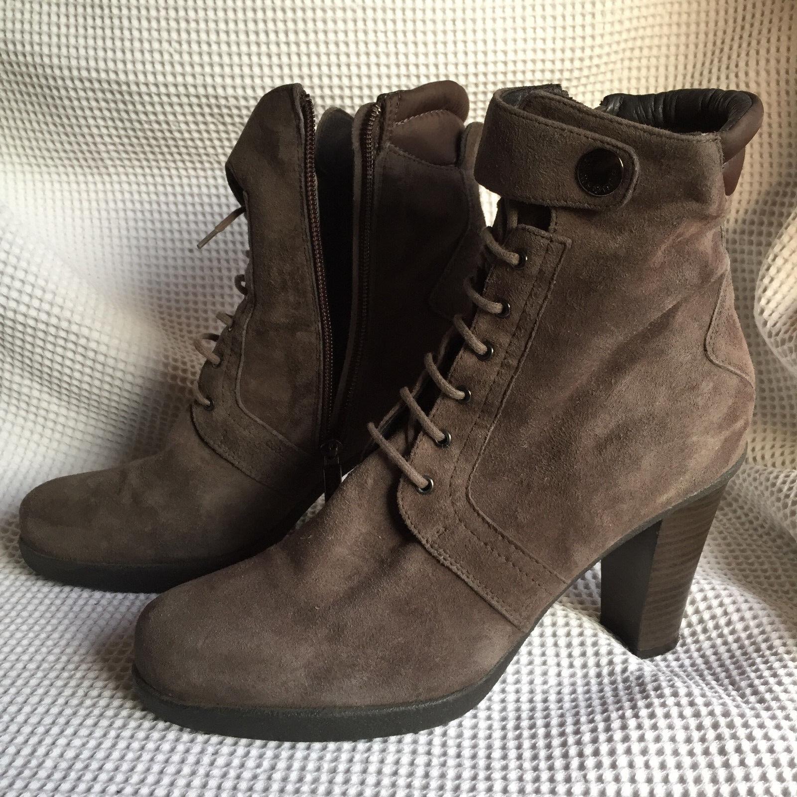 Samsonite  Ladies Suede  Ankle Boots High block heels  EU 39 UK 6 US 8