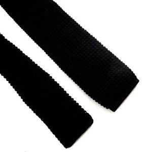 Essex-Row-1980s-Dark-Brown-Wool-Tie-Square-Tip-2-034-wide
