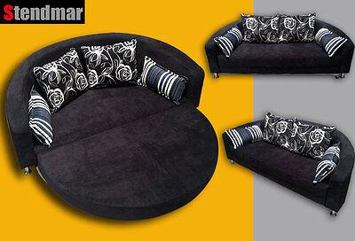Modern Fabric Round Sofa Sleeper Bed B098
